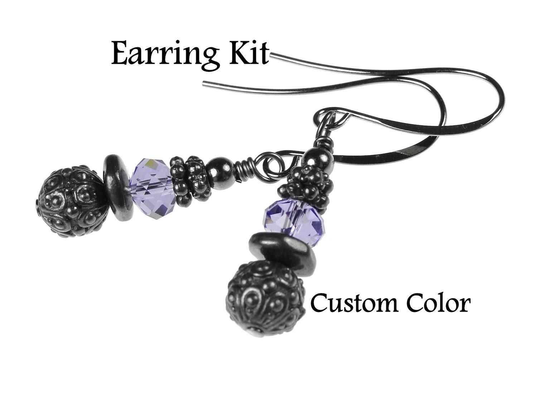 Do It Yourself Jewelry: Gunmetal Earring Kit DIY Earrings Do It Yourself Jewelry