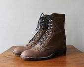 Vintage Oxford Boots - vintage Fringe Roper Boots