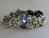 1920s Bracelet / Vintage 30s Paste Bracelet / Art Deco Jewelry