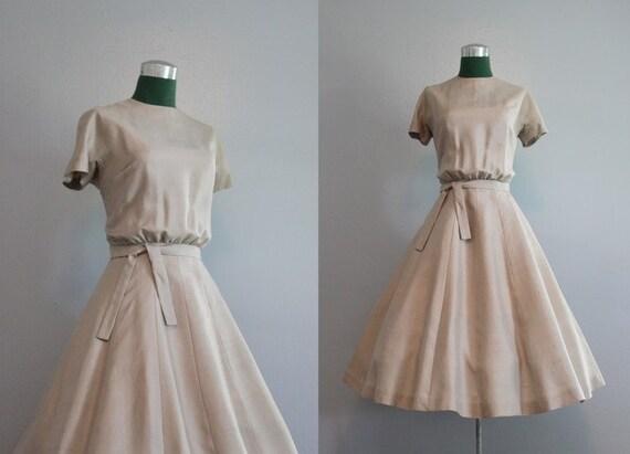 Vintage Dress / 1950s Silk Dress / 50s 60s Jonathan Logan Party Dress