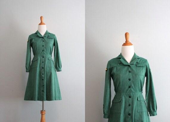 50s Dress / Vintage Girl Scouts Dress / Vintage 50s Girl Scouts Uniform