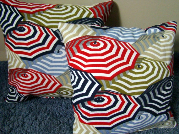 Mini Indoor Outdoor pillows, Umbrella design