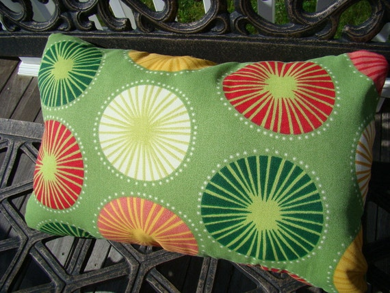Outdoor Pillow in Beringer Spring pattern