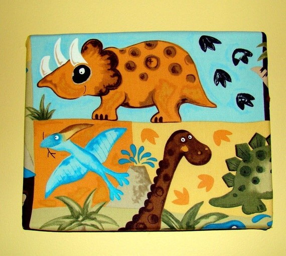 Dinosaur fabric wall art for Kids dinosaur fabric