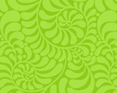 Jane Sassaman Curlicue Lime Early Birds Fabric 1 yard