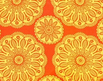 Flower Orange Tonal Kaleidoscope Michael Miller Fabric 1 yard