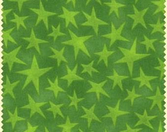 Stars Green Maywood Studios Fabric 1 yard