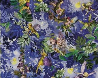 Flower Fairy Cicely Mary Barker Night Fairies fabric 1 yard