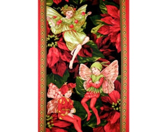 Flower Fairy Holiday Large Michael Miller Fabric Panel