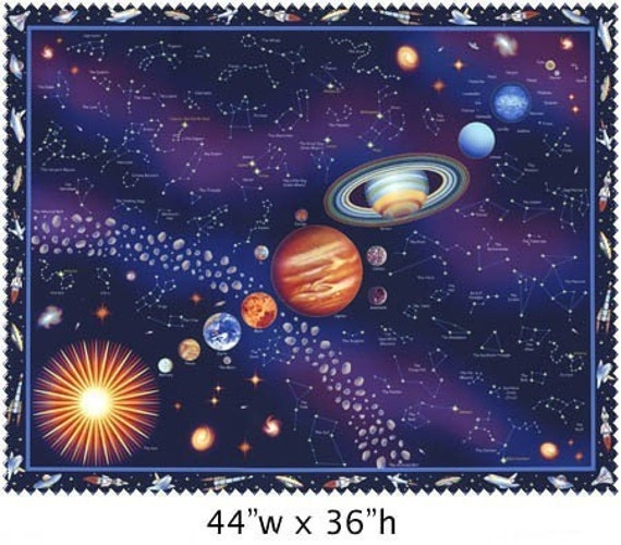 Solar system fabric panel pics about space for Outer space fabric panel