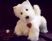Knitting Pattern Westie Dog : Items similar to Westie SEWING PATTERN 10