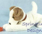 """Jack Russell SEWING PATTERN 15"""" long Terrier Puppy Dog Stuffed Animal Plushie Toy Bear Friend"""