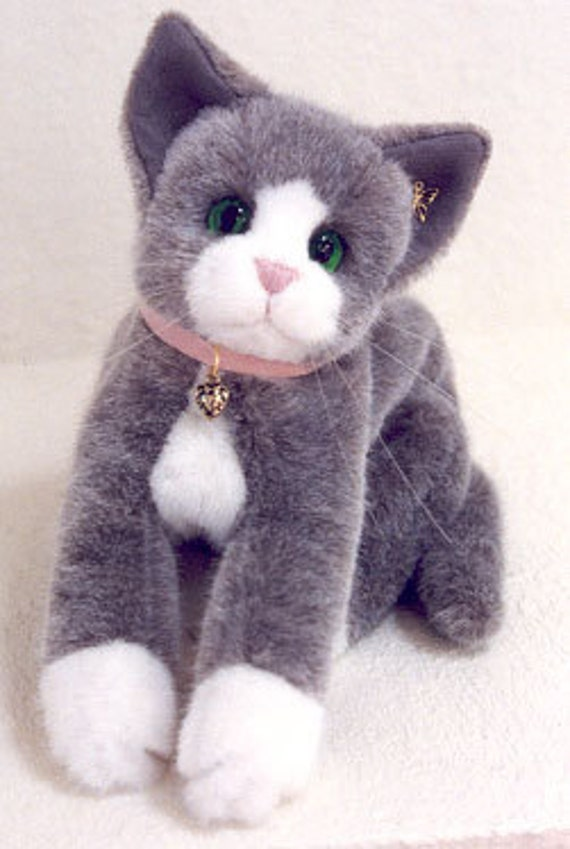 Items similar to cat sewing pattern stuffed animal plushie for How to make a cat toy out of a box