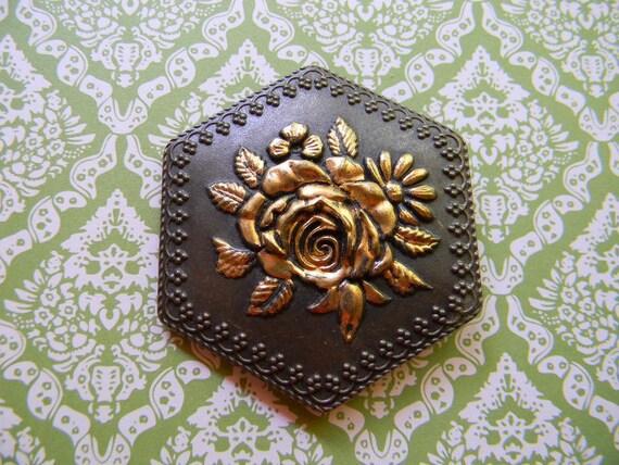 Vintage Rose Belt Buckle
