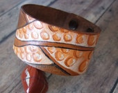 Tentacles Tooled Leather Cuff