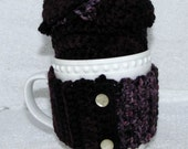 Coffee Mug & Fruit Cozy Set - Purple