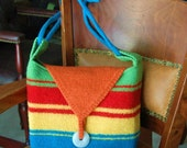Knit and Felted Almost a Rainbow Purse