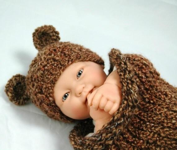 KNITTING PATTERN ONLY  Infant Tiny Bear Hat