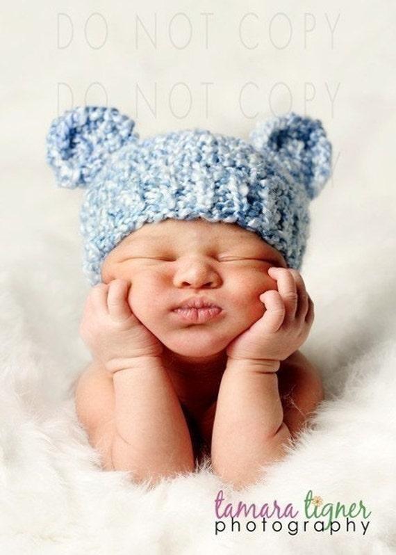 KNITTING PATTERN Baby Bear Hat PDF by PhylPhil on Etsy