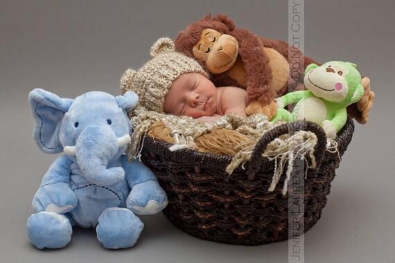 Newborn Baby Bear Hat, Knit Bear Hat, Baby Hat Beanie, Newborn Photo Prop, Baby Boy Hat, Baby Girl Hat, Vegan Baby hat, Knitted Baby Hat