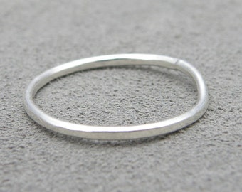 Faceted Stacking Sterling Ring