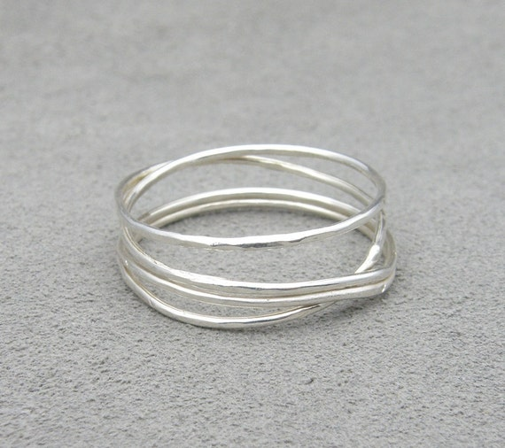 Silver Stacking Ring - Round and Round Ring