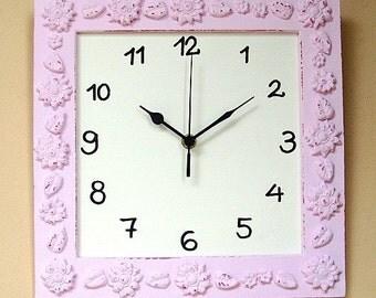 Pink Shabby Chic Wall Clock