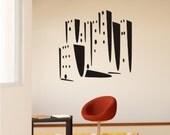 Skyline Wall Decal Modern City - Vinyl Wall Art Sticker Graphic