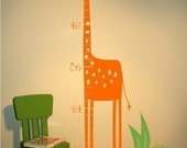Giraffe Growth Chart Wall Decals - Kids Wall Decals