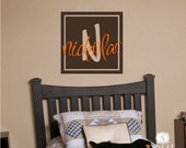 Monogram Boxed Wall Decal -  Vinyl Wall Stickers Art