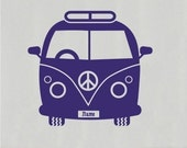 Peace Hippie Van Wall Decal Peace  - Wall Stickers Art