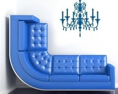 Chandelier Wall Decal Crystal - Vinyl Wall Stickers Art