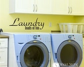 Laundry Wall Decal Loads of Fun - Vinyl Wall Stickers Art Graphics Words Lettering