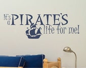 Pirate's Life For Me Wall Decal - Vinyl Sticker Nursery Decor