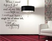 Erma Bombeck Wall Decal Quote Everything You Gave Me - Vinyl Word Art