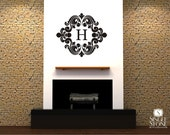 Monogram Wall Decal Baroque - Vinyl Text Wall Stickers Wall Decals