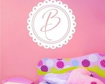 Monogram Wall Decal Eyelet -  Vinyl Wall Stickers Art Graphics
