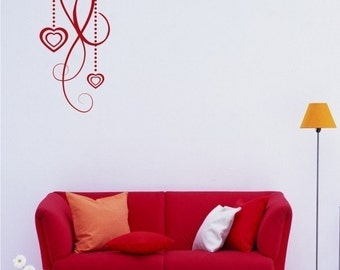 Heart Wall Decal - Vinyl Wall Stickers Art Graphics