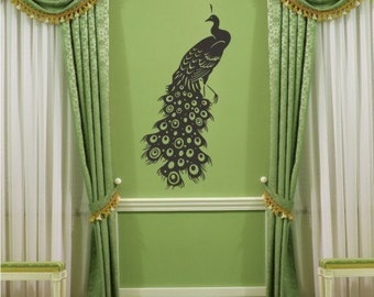 Peacock Wall Decal - Vinyl Wall Stickers Art Graphics