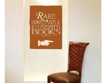 Rare Books Wall Decal - Vinyl Text Wall Words Stickers Art