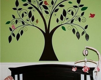 Tree Wall Decal Whimsical - Nursery Vinyl Stickers Art