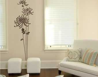 Elegant Mums  Wall Decal - Vinyl Wall Stickers Art Graphics