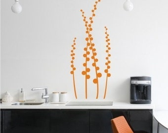 Floral Wall Decal Modern Meadow