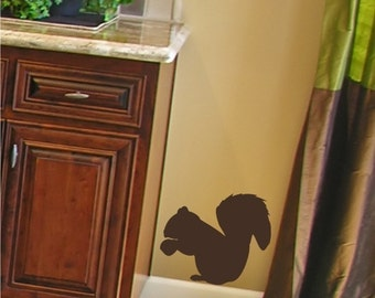 Wall Decals Squirrel - Vinyl Wall Stickers Art Graphics
