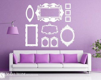 Picture Frame Wall Decals Baroque Collection (Large)