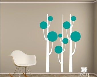Tree Wall Decals Simple Trees  - Vinyl Nursery Decor Stickers Art