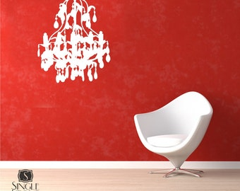 Chandelier Wall Decal Grunge - Vinyl Wall Stickers Art Graphics