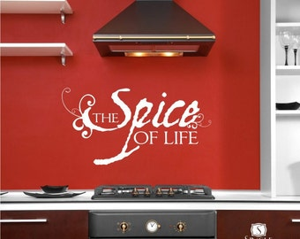 Spice of Life Wall Decal Quote - Vinyl Text Words Stickers Art