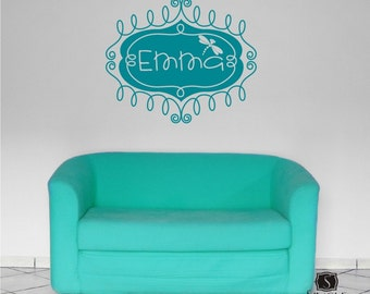 Custom Wall Decal Name Frame - Vinyl Text Wall Words Stickers Art
