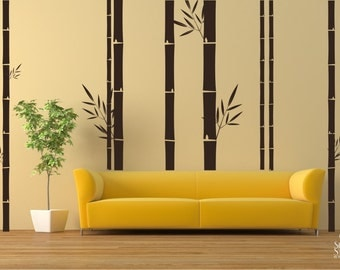 Bamboo Wall Decals Mural - Wall Stickers